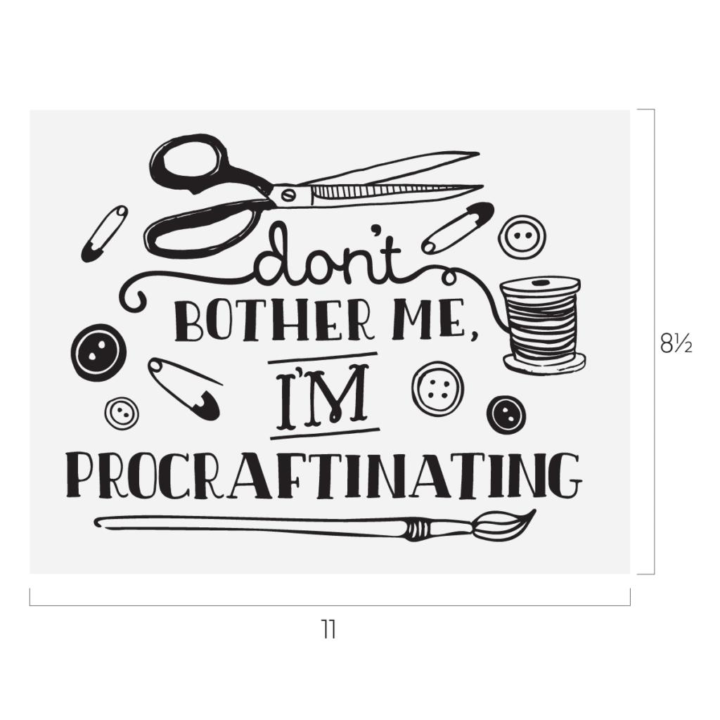 Procraftinating stencil