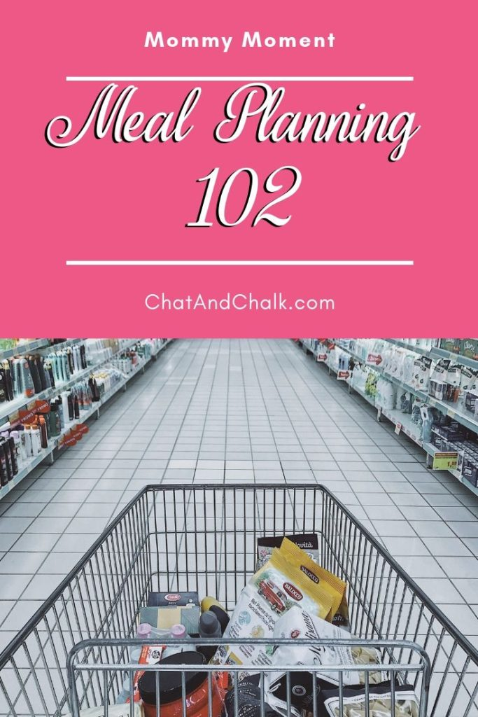 Part two of Chat And Chalk's easy meal planning/budgeting system