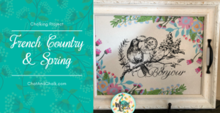 Mary Jo demonstrates how to make a preprinted item your own by chalking