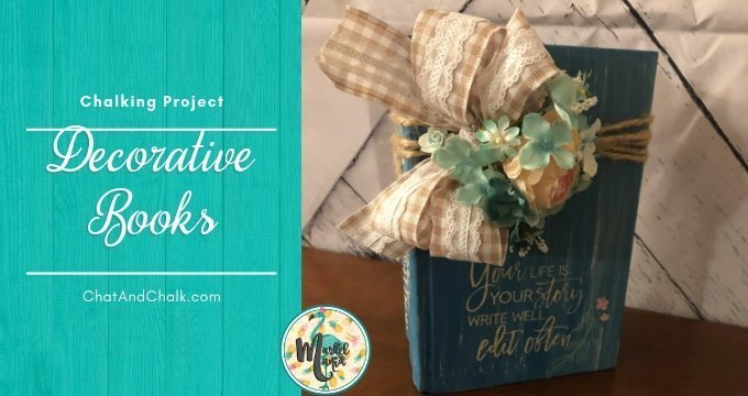 Easy DIY Decorative Books with Chalk!