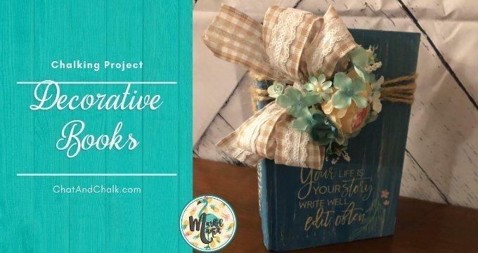 Easy DIY Decorative Books with Chalk!