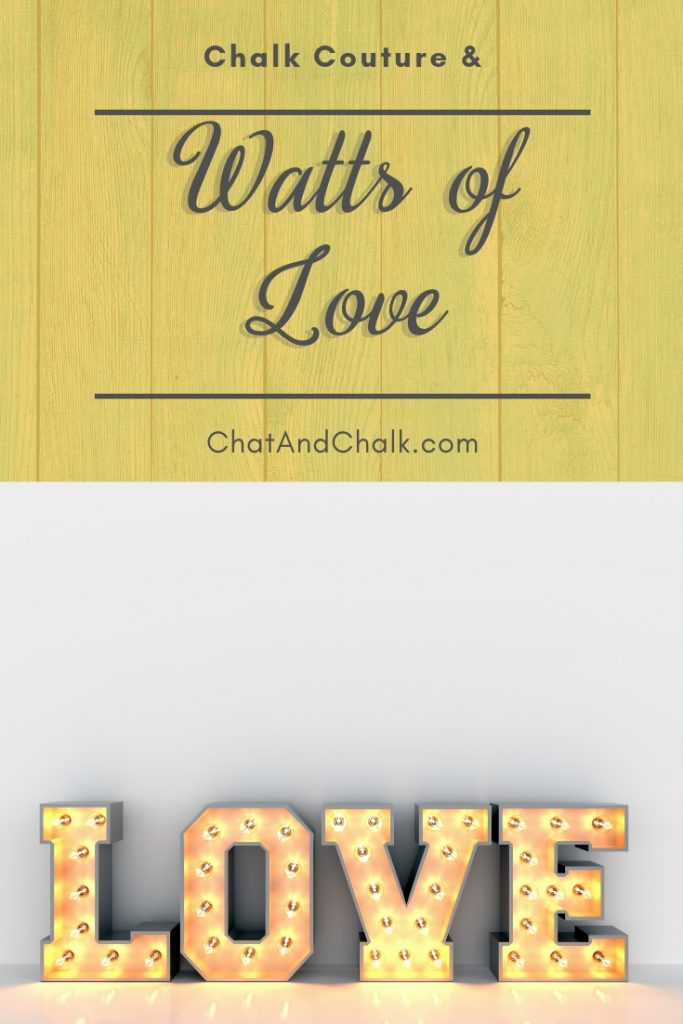 Chalk Couture is proud to work with Watts of Love!